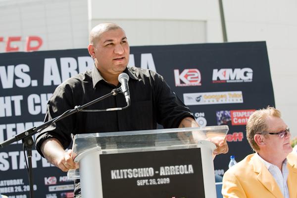 Arreola at Press Conference