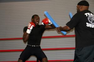 Steve Cunningham Training with Nazim Richardson