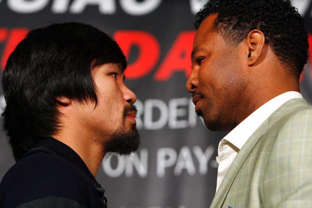 Pacman vs Mosley: dos caras