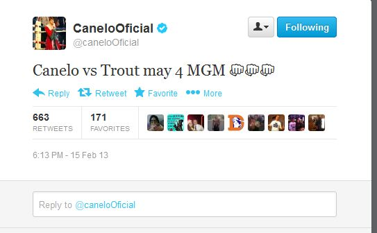 canelo trout twitter