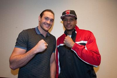 ¿Cuánto mide Carmelo Anthony? - Altura - Real height Tyson-fury-carmelo-anthony