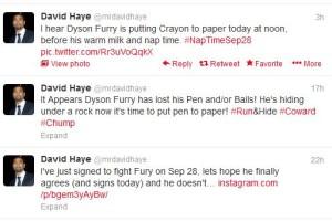 david haye tweets tyson fury