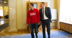 klitschkos in parliament