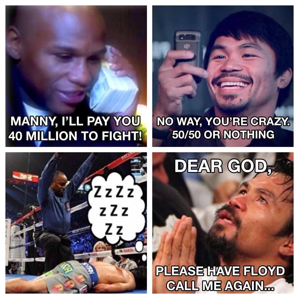 mayweather vs pacquiao meme