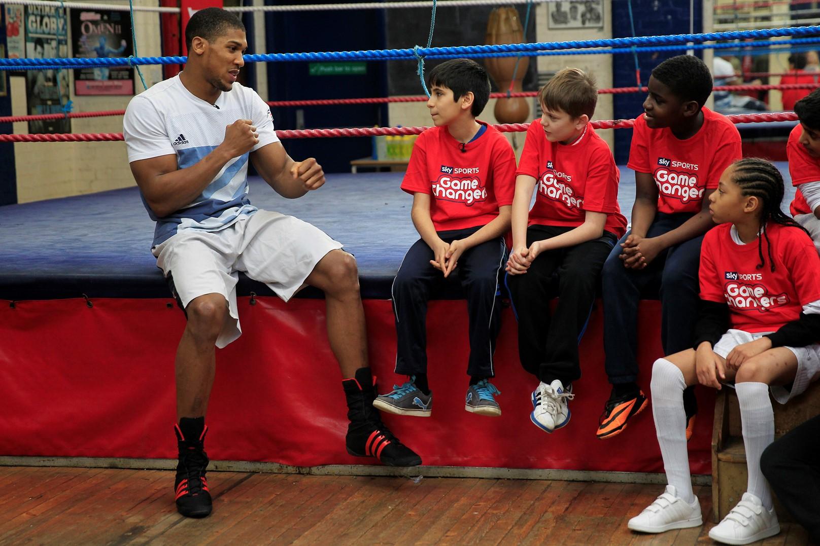 Antony Joshua Trains Pupils From Enfield Grammar School At