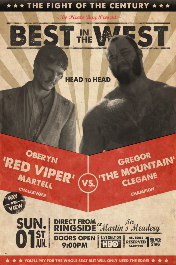 oberyn vs the mountain fight poster