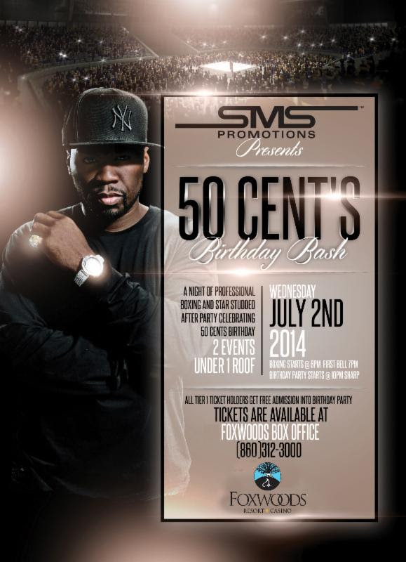 50 cent birthday bash poster