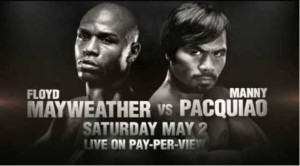 Mayweather vs Pacquiao fight poster