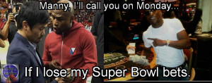 mayweather pacquiao meme super bowl bets