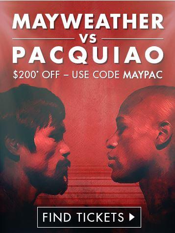 mayweather vs pacquiao tickets