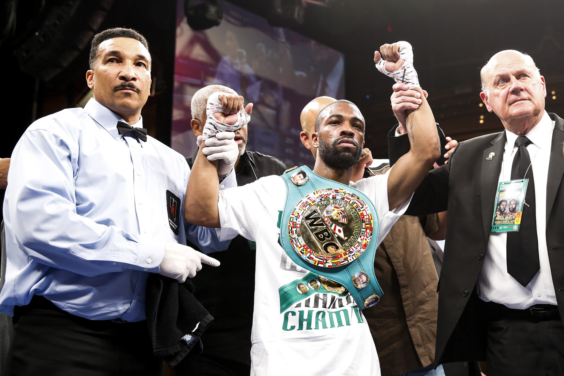 Warrington could face WBC champion Gary Russell Jr next year Credit: Esther Lin / Showtime