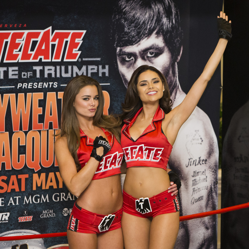 Photos: Mayweather-Pacquiao Tecate Girls are taking over ...