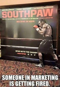 Southpaw movie poster not a southpaw