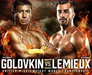 golovkin vs lemieux poster