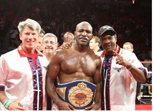 Evander Holyfield is one of the most decorated boxers of his generation Credit: ESPN