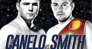 Canelo vs Smith fight poster