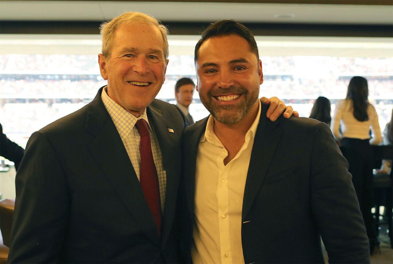 De La Hoya And George Bush Proboxing