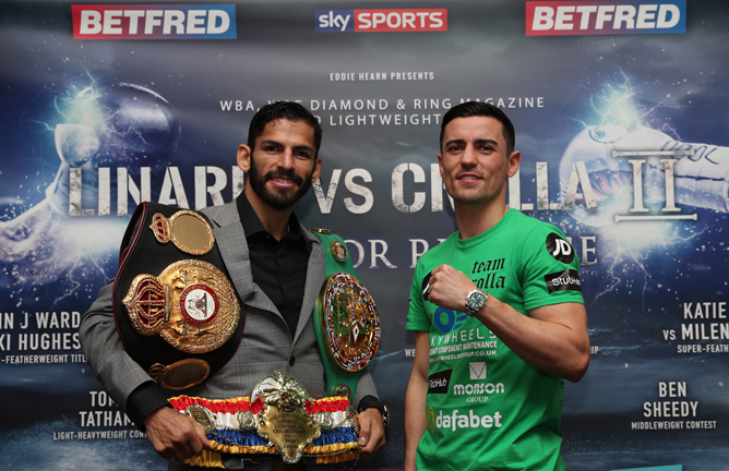 Crolla twice came up short against Jorge Linares Credit: Lawrence Lustig