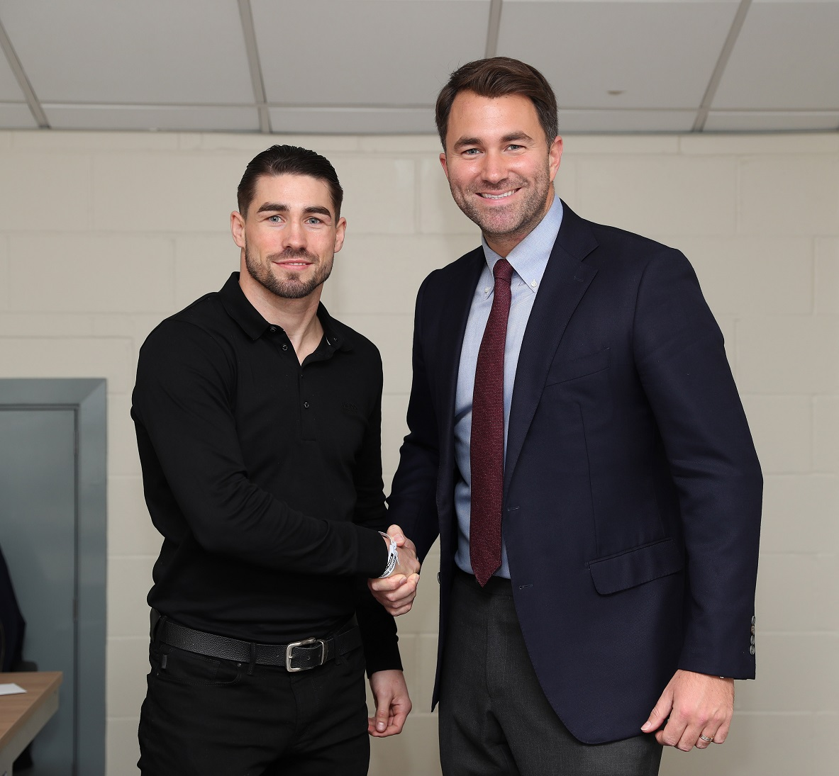 Jamie Cox signs foe Eddie Hearn's Matchroom.