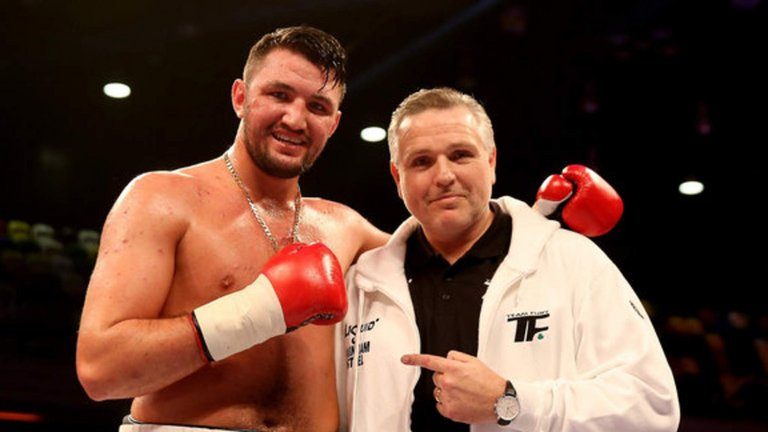 Hughie and father and trainer, Peter Fury. Photo Credit : SkySports