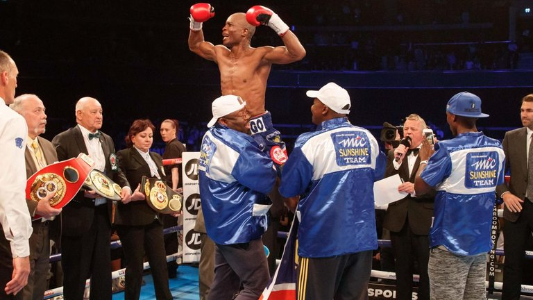 Indongo is the new super-lightweight WBA and IBF champion. Photo Credit: Sky Sports