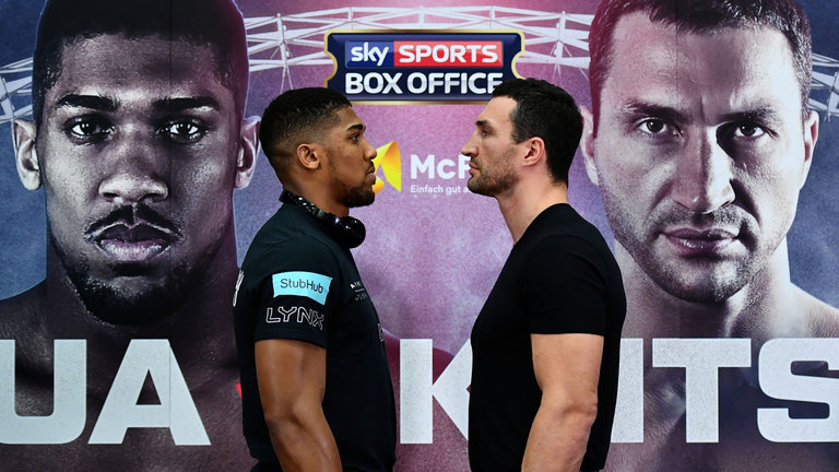 joshua klitschko face off