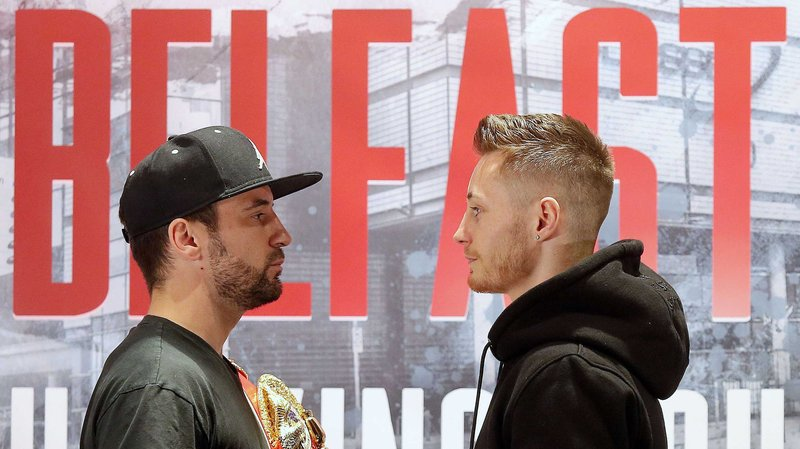 Haskins and Burnett face off ahead of title fight