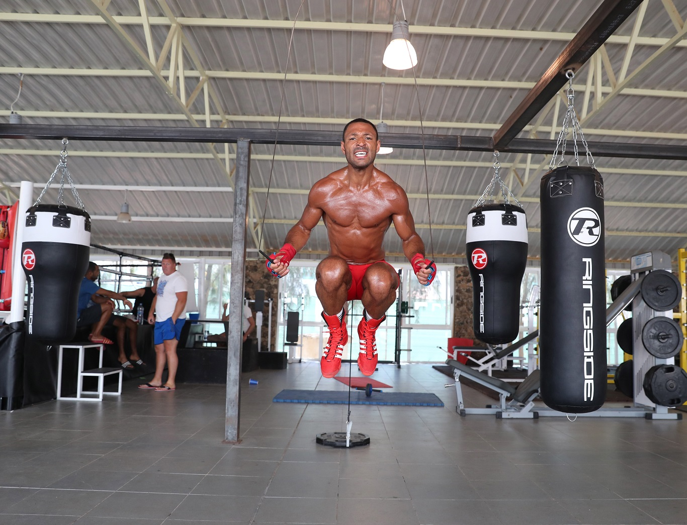 Kell Brook training in Fuertaventura