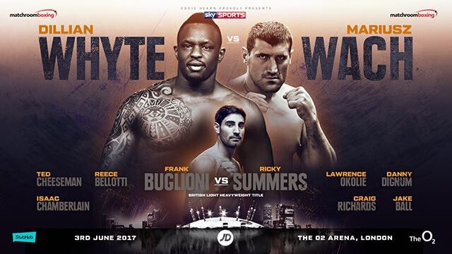 Heavyweight Whyte to delay return after suffering a foot injury