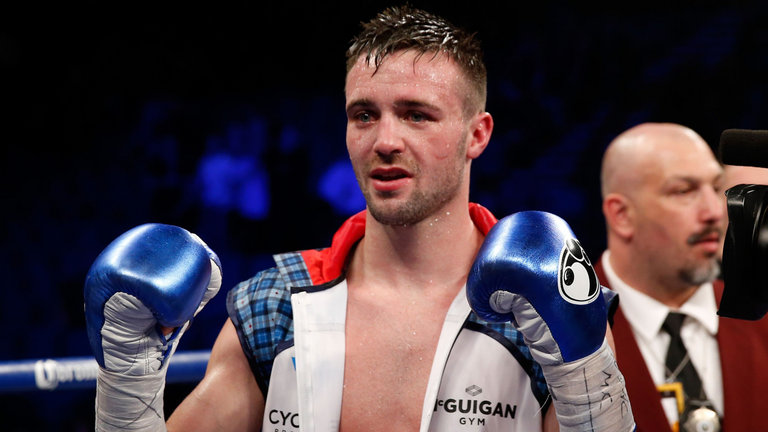 Josh Taylor defeated Ohara Davies in the 7th Round via stoppage Photo Credit: skysports.com