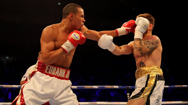 Chris Eubank Jr shows off his devastating punching power & speed.