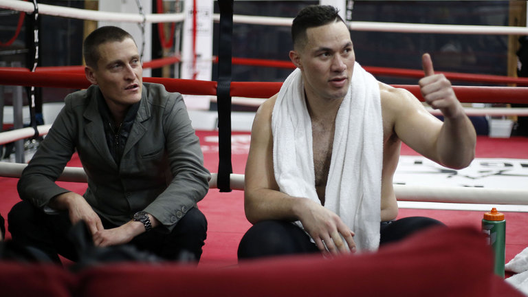 David Higgins and Joseph Parker call for Hearn and Joshua to fix a 2018 date. Photo Credit: Sky Sports