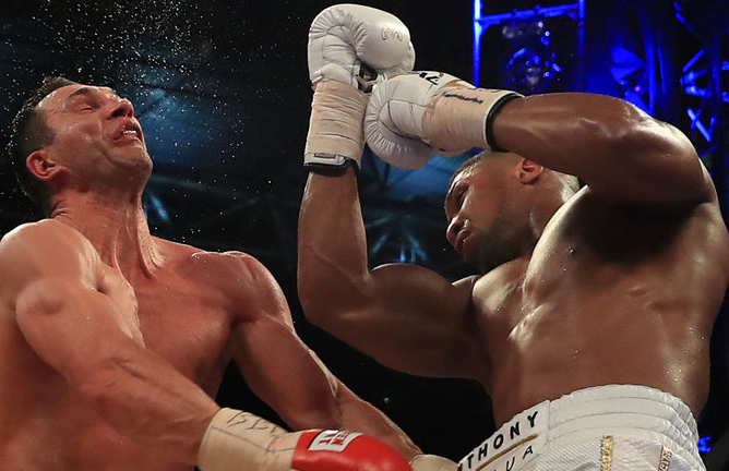 Anthony Joshua beat Wladimir Klitschko in round eleven of their bout. Photo Credit: skysports.com
