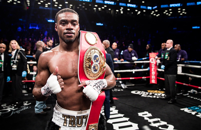 Image result for errol spence jr knocksout peterson