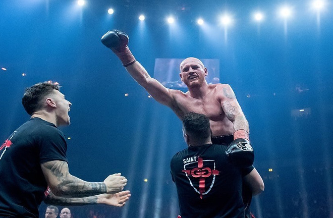 George Groves victory over bitter vital Chris Eubank Jr in Manchester. Photo Credit: Daily Express