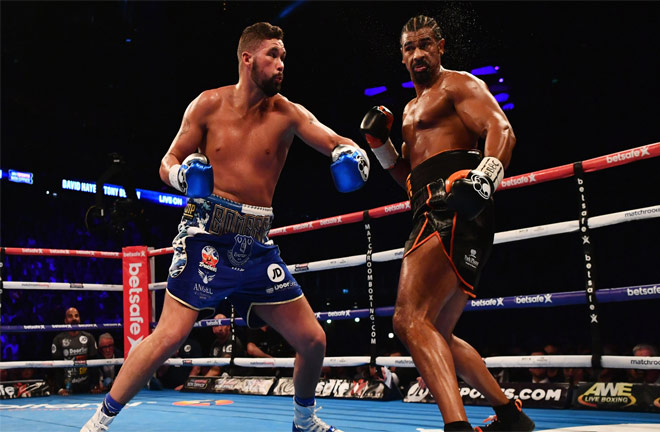 Haye vs Bellew back in their first meeting back in November 2016. Photo Credit: SkySports