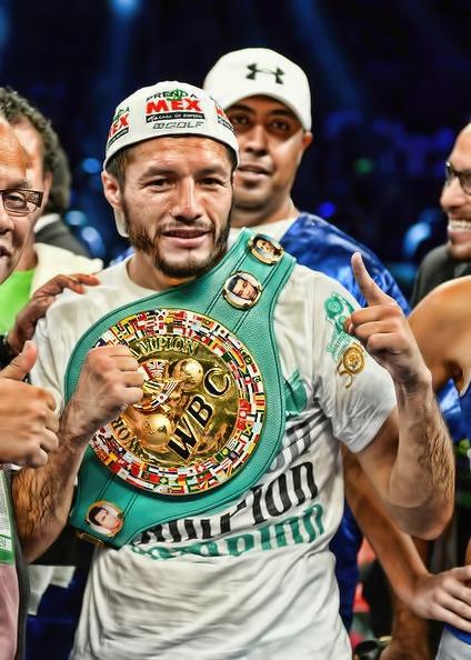 Jhonny Gonzalez - Holding his WBC Title