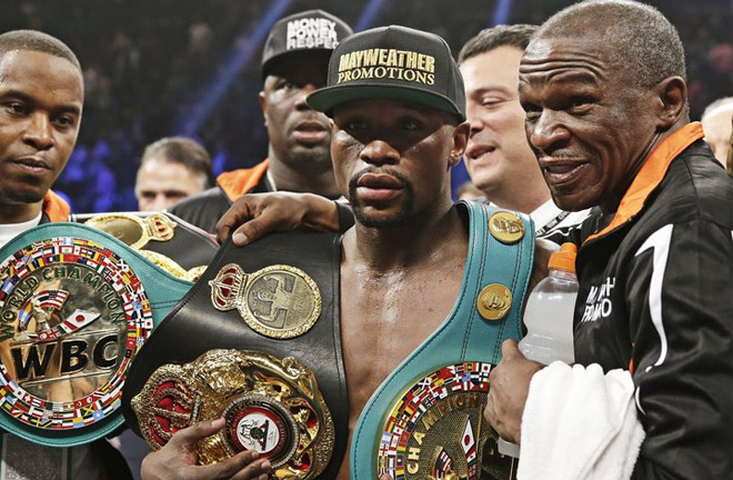 Sims Jr is the cousin of five-weight world champion Floyd Mayweather Jr