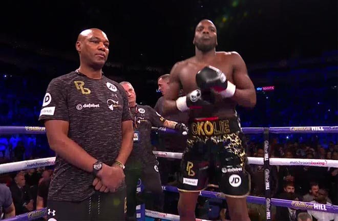 Lawrence Okolie dominates against Isaac Chamberlain to win 'British Beef' clash. Photo Credit: Sky Sports