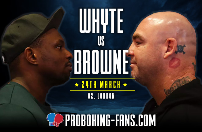 Whyte-Browne big heavyweight showdown at The O2, London this Saturday