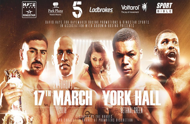 Huge showdown at York Hall on 17th March. Photo credit: Freuds