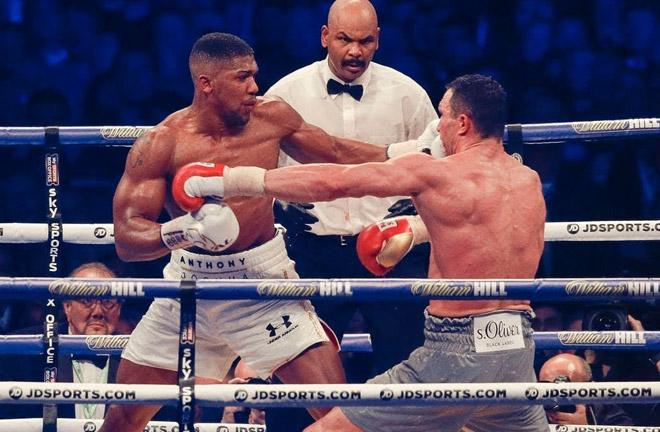 Joshua-Klitschko big showdown at Wembley in April last year. Photo Credit: The Mac Life