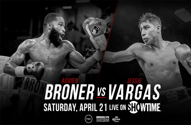 Broner-Vargas in Brooklyn, Saturday April 21st . Photo Credit: Premier Boxing Champions