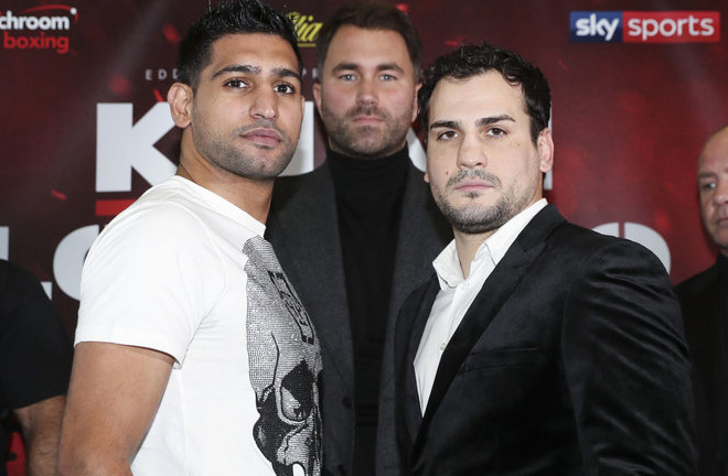 Khan returns to the ring against Lo Greco on April 21st. Photo Credit: Sky Sports