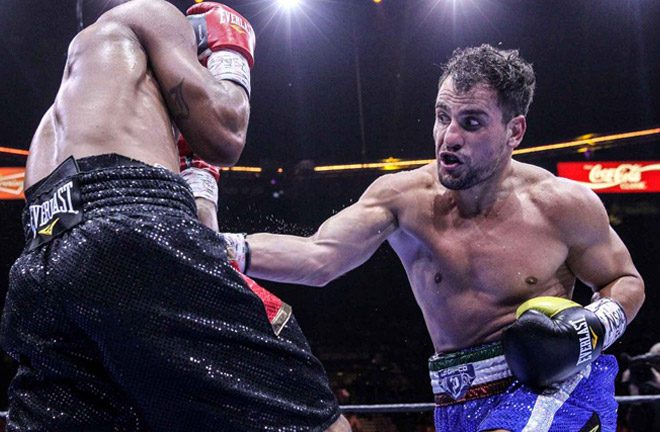 Phil Lo Greco ready to make his mark against Amir Khan on April 21st. Photo Credit: Boxing News
