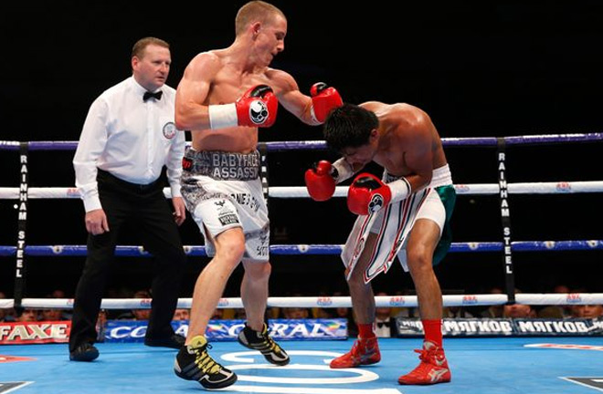 Paul Butler v Gustavo Molina at Manchester Velodrome. Photo Credit: Liverpool Echo