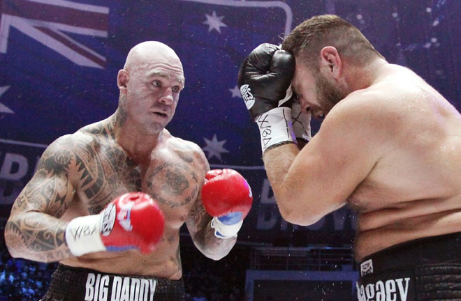 Browne produced a miracle punch to win a heavyweight title in Grozny. Photo Credit: ESPN