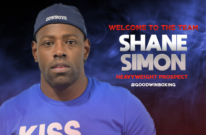 Shane Simon puts pen to paper with Goodwin Boxing.