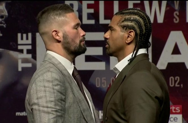 THE FACE OFF last night Press Conference in Liverpool. Photo Credit: Sky Sports