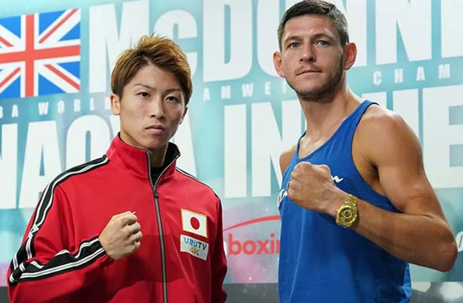 McDonnell - Inoue go head to head this Friday. Photo Credit: Top Rank Boxing